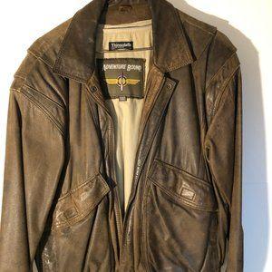 Mens Vinatge Leather Aviator Jacket